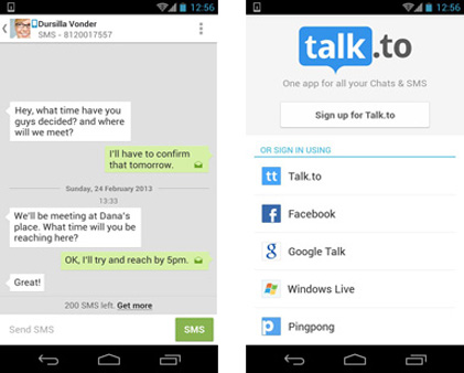 talk.to free sms